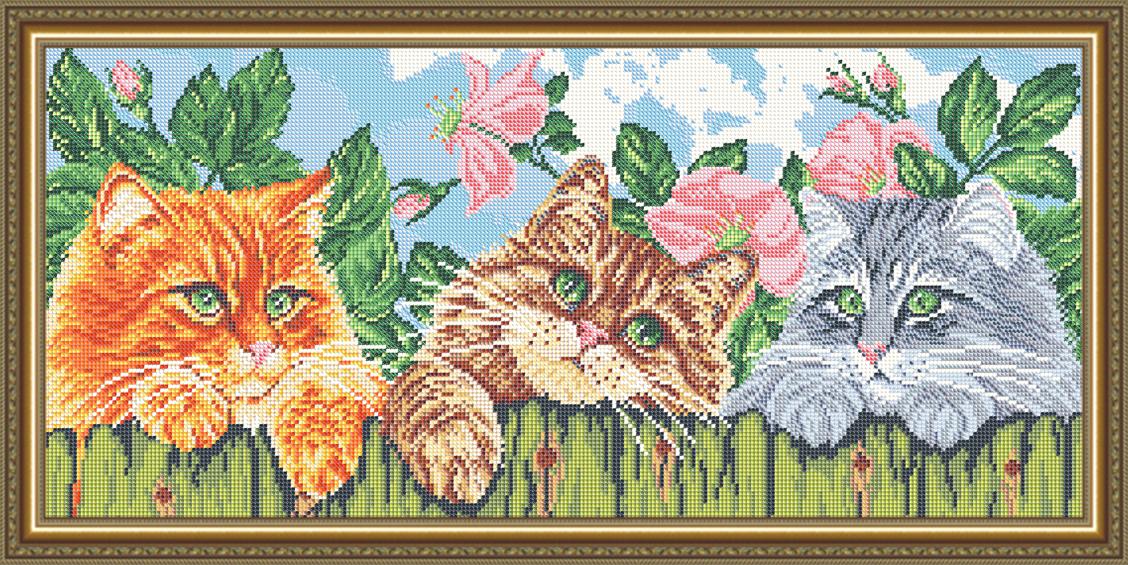 Вышивка бисером по ткани с рисунком
