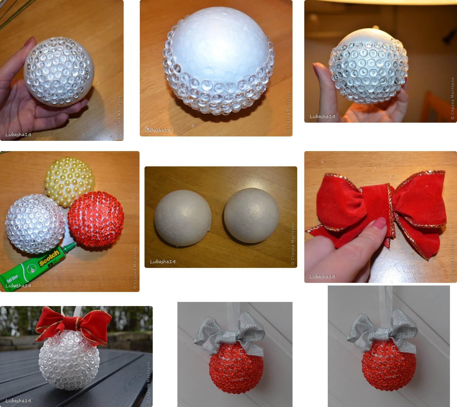 ?создаем волшебство своими руками, или 35 идей украшения новогодних шаров