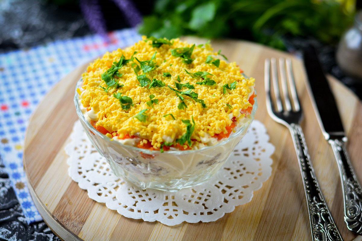 Классический салат мимоза – 9 пошаговых рецептов с фото