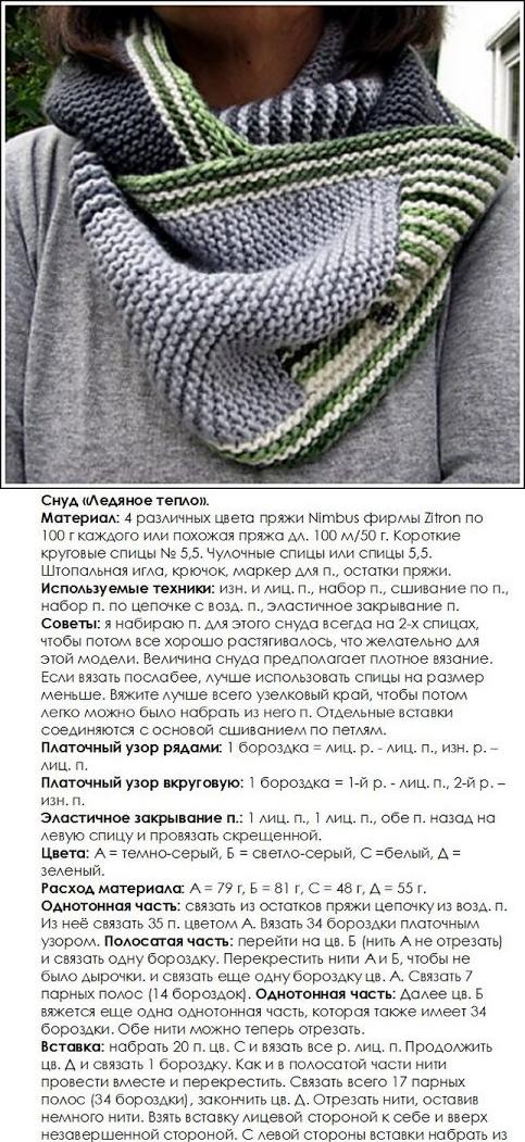 Шарф-хомут спицами: поэтапные вязальные схемы и оригинальные идеи шарфов. простые инструкции для начинающих с фото-обзорами