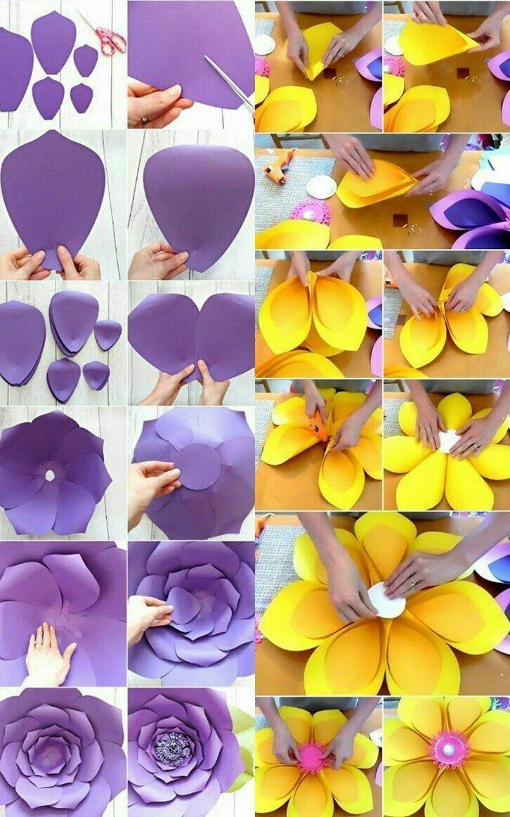 Цветы из бумаги своими руками: пошаговые фото для начинающих и детей, шаблоны и схемы бумажных цветов для вырезания | жл