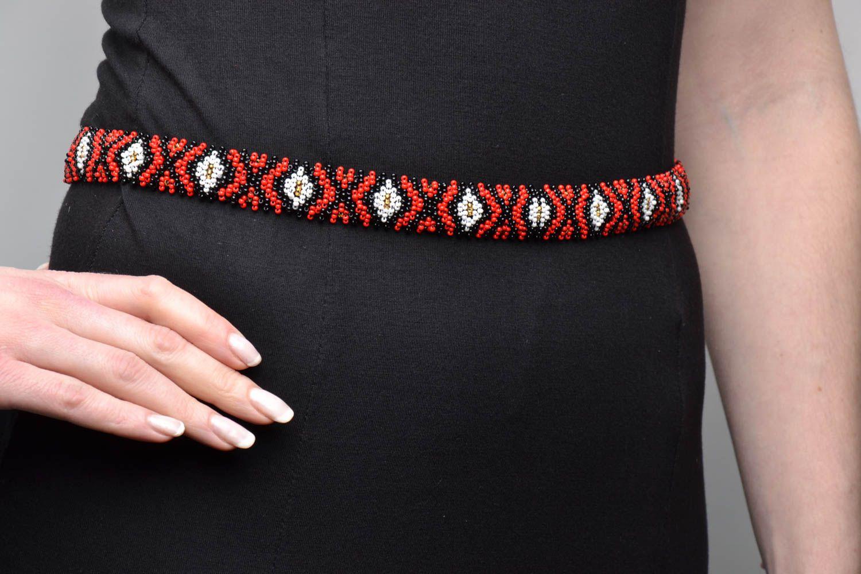 Удивительные пояса из бисера сделать самому своими руками