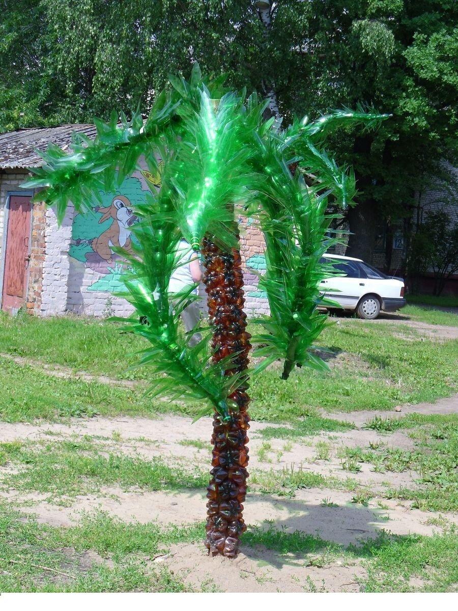 Пальма из пластиковых бутылок: 85 фото подробного описания создания пальмы