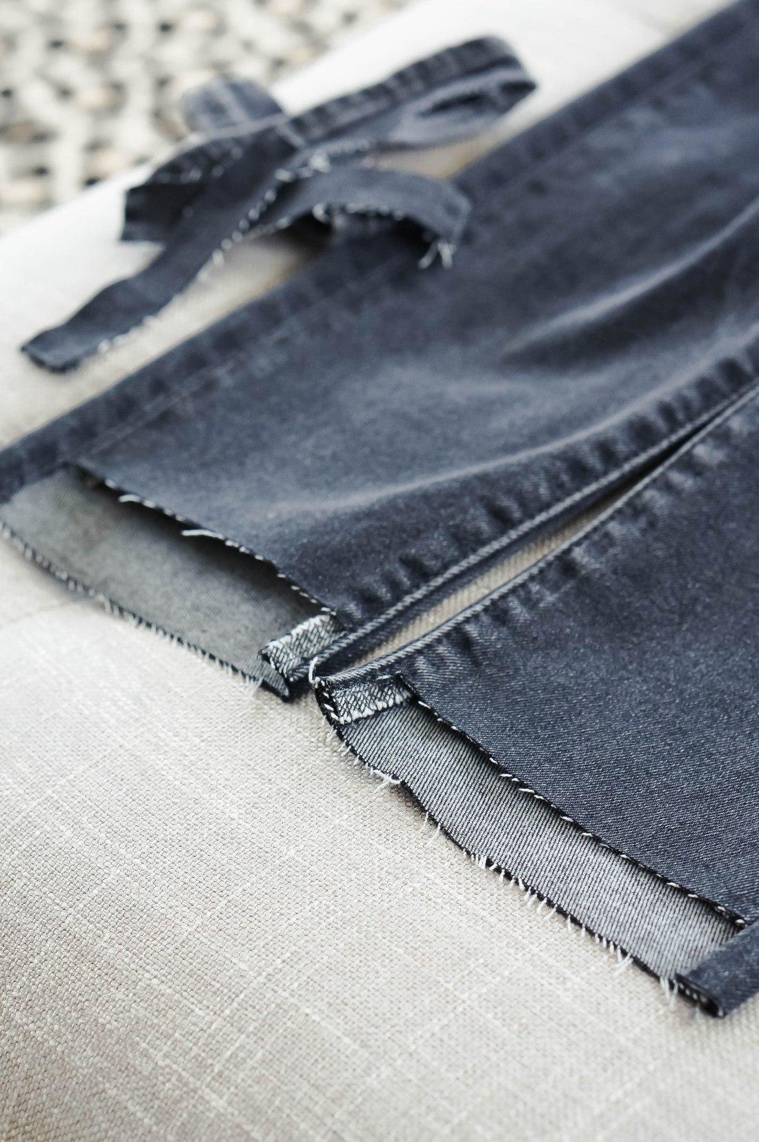 Как обрезать джинсы внизу по-модному, распушить с бахромой, необработанными краями с фото пошагово в домашних условиях