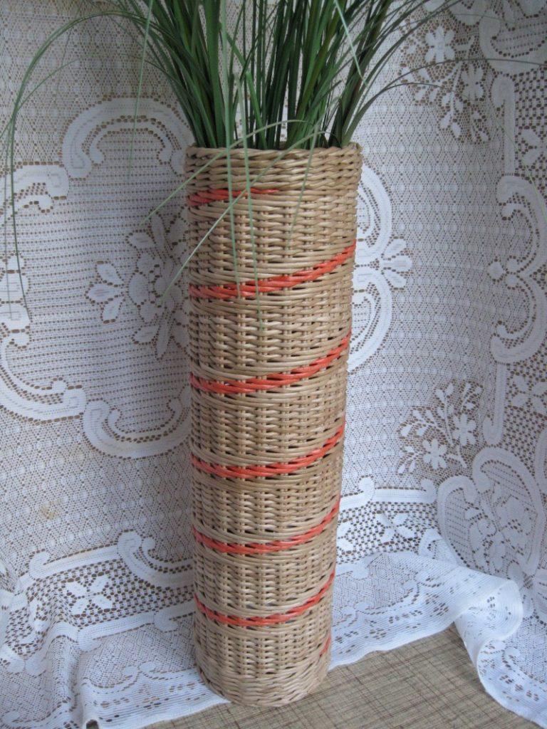 Ваза из газетных трубочек: как сделать правильно плетеную вазу