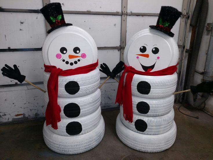 Нестандартный снеговик