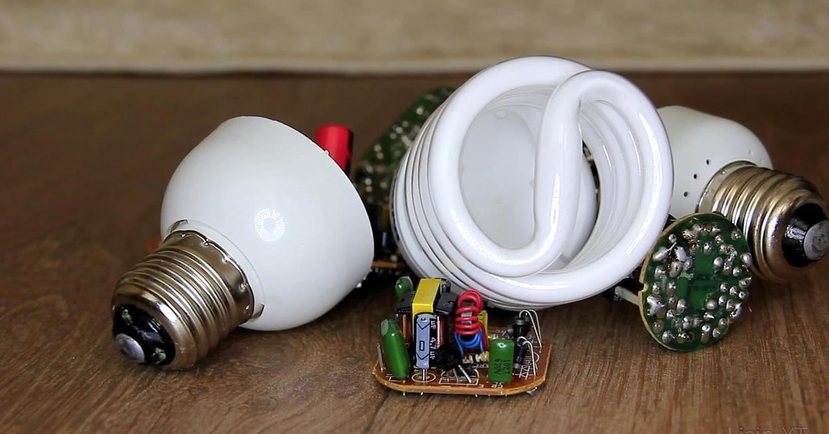 Модернизация энергосберегающей лампы в светодиодную №1