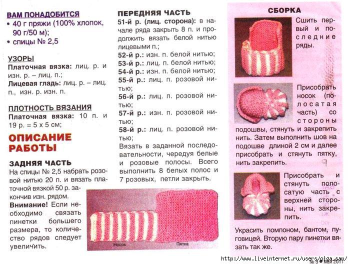 Пинетки зефирки спицами: как связать пинетки-зефирки спицами для новорожденных?