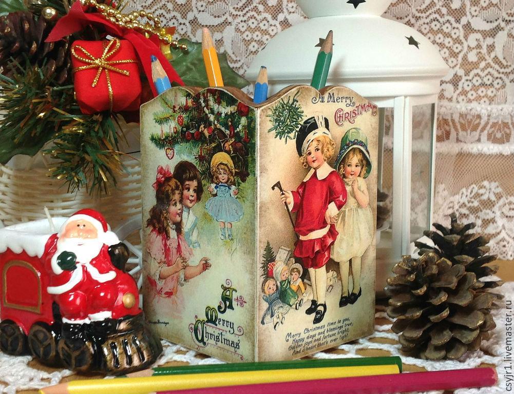 Декупаж новогодней игрушки своими руками