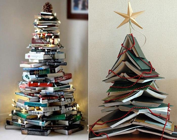 Как сделать креативные новогодние елки своими руками