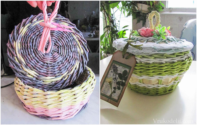 Плетение шкатулок и коробок из газетных трубочек – пошаговая инструкция для начинающих. фото, видео, мастер-класс