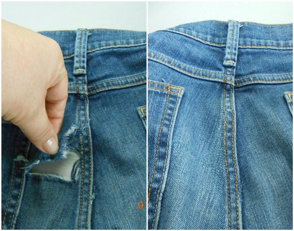 Услуга декоративная штопка на джинсах в москве
