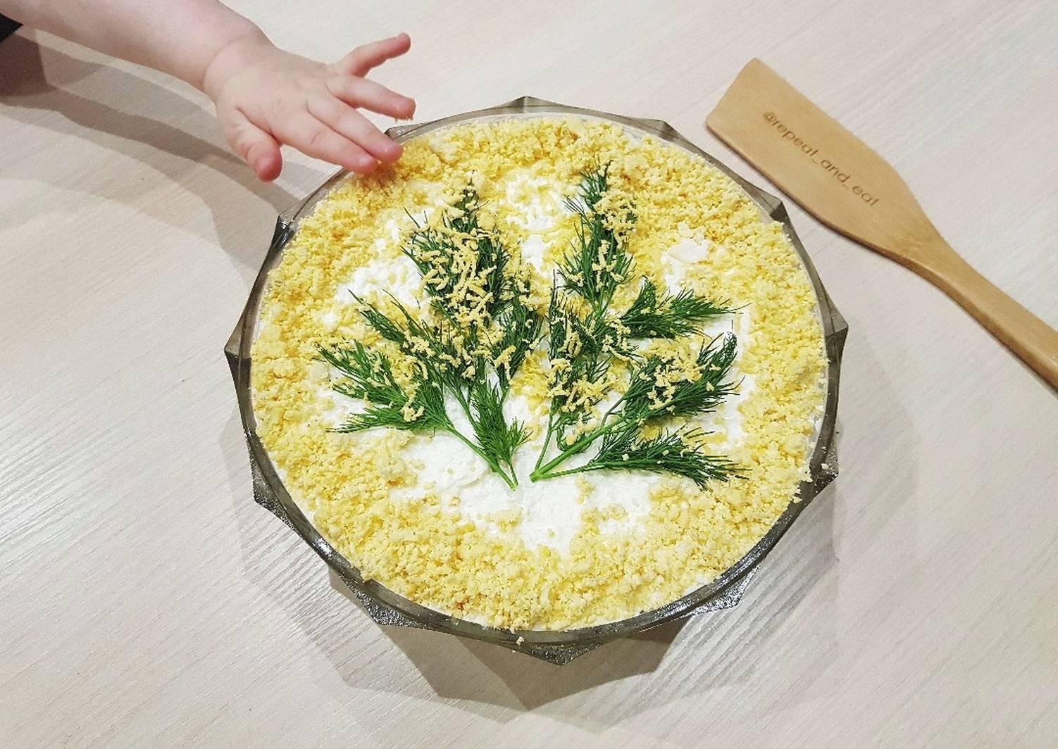 Салат мимоза классический - 8 рецептов приготовления пошагово - 1000.menu