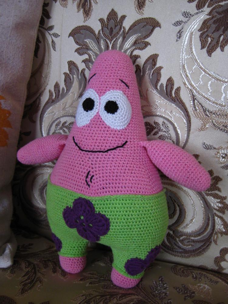 Вязаный спанч боб - игрушки своими руками - страна мам