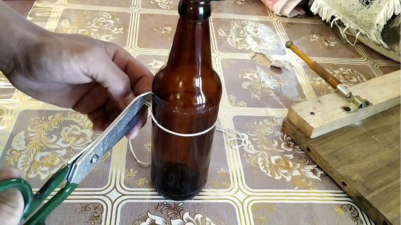 Как разрезать стеклянную бутылку - wikihow