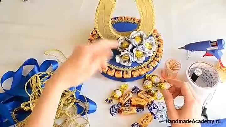Подкова из конфет своими руками - мастер класс + фото и видео