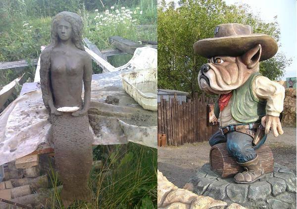 Как сделать фигуры из цемента для сада своими руками: фото пошагово