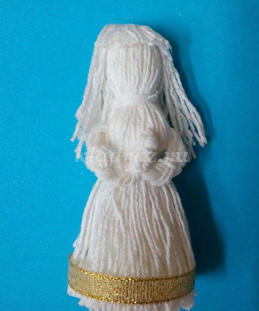 Рождественская игрушка ангел в шаре своими руками. ангелок в шаре из нитей
