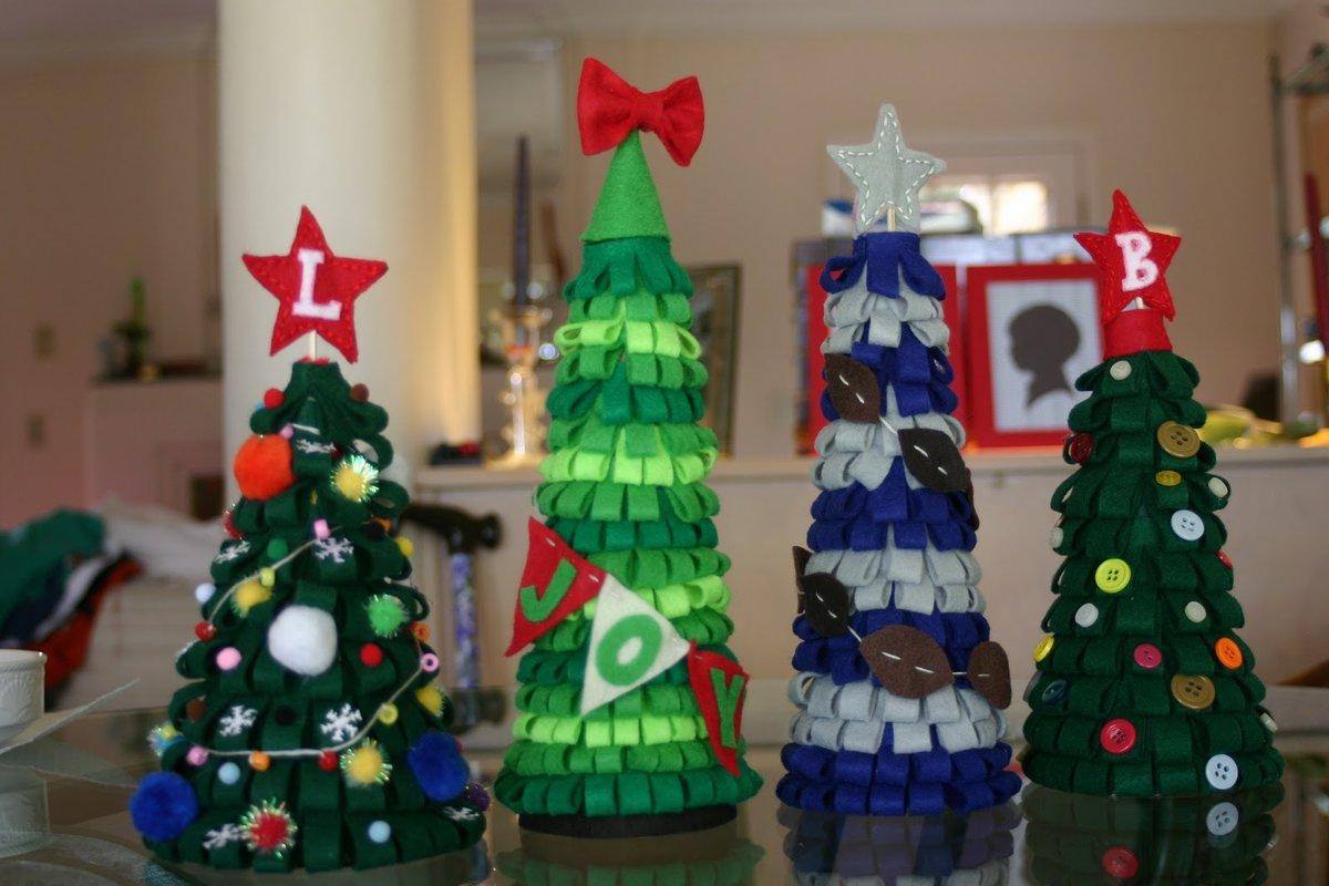 Объемные ёлки из бумаги и картона на новый год: мастер-классы