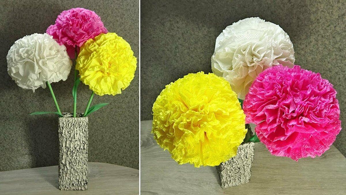 Букет цветов из салфеток - начальные классы, прочее