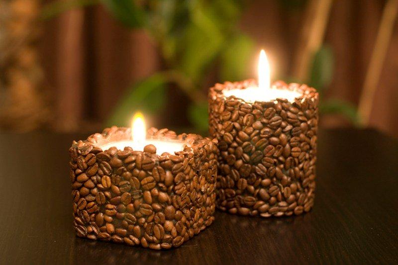 Декорируем свечу бисером