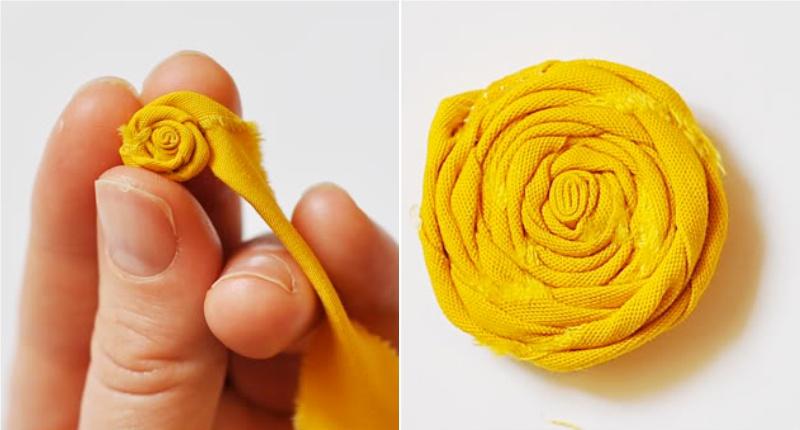 Мастер-класс по изготовлению розы из различной ткани своими руками -(выкройка