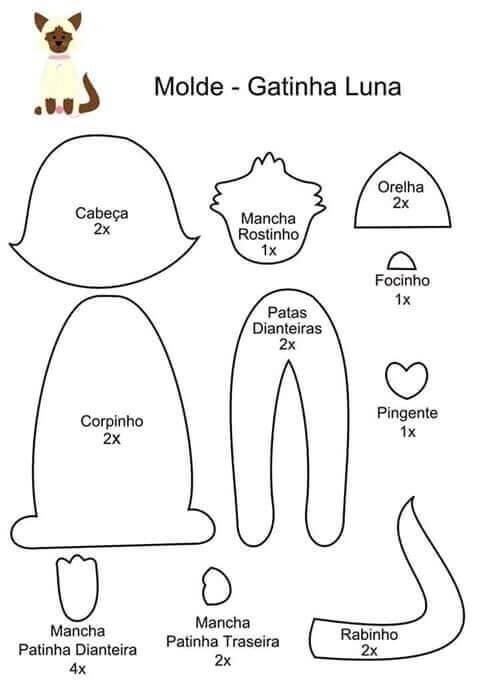 Гламурные коты – поделка из фетра своими руками   каракули