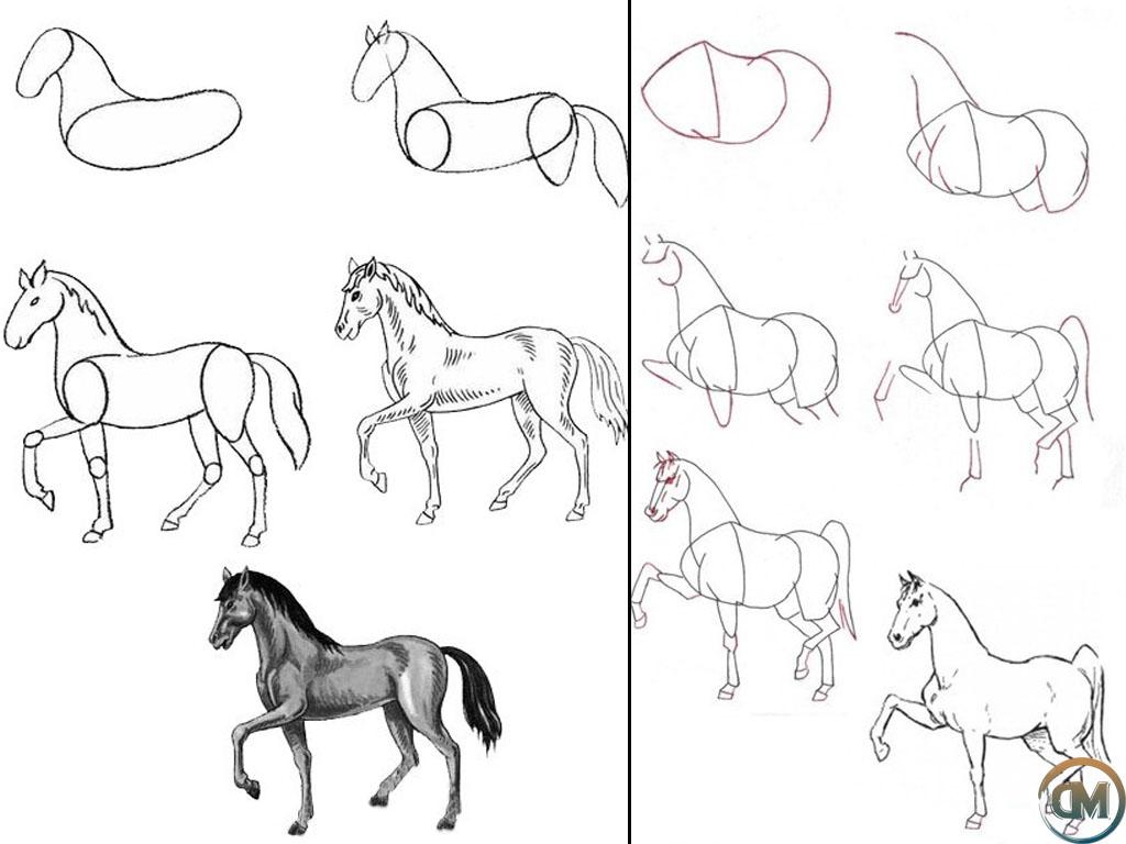Как нарисовать коня на одежде - своими руками