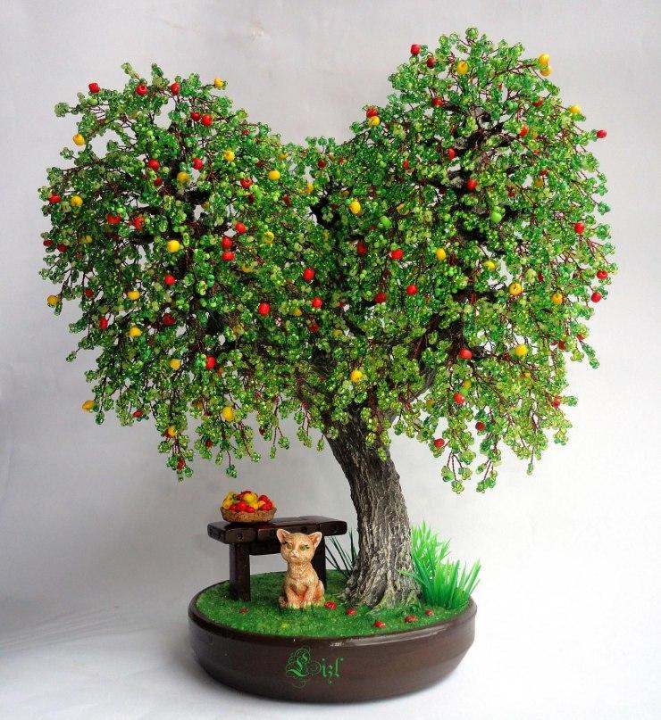 ᐉ дерево счастья своими руками из бисера схемы. как плести дерево из бисера? пошаговые инструкции с фото! мастер класс – надежный ориентир для рукодельниц ➡ klass511.ru