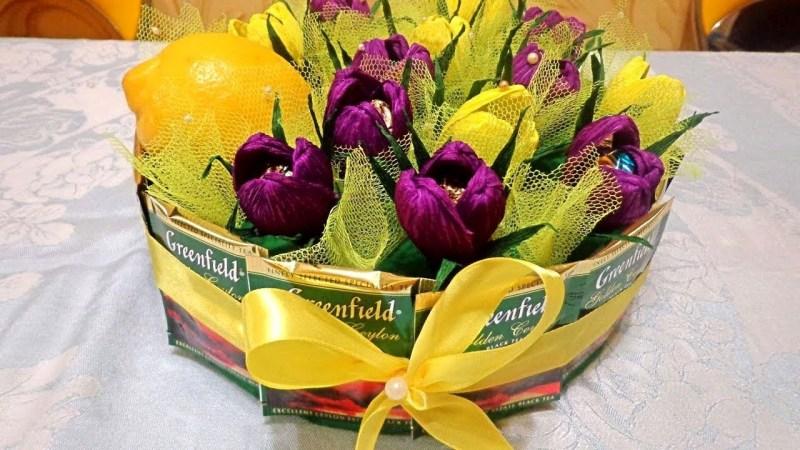 Купить съедобные букеты для женщин - оригинальные вкусные букеты для мамы, сладкие подарки для женщин