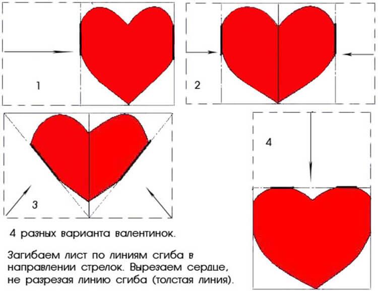 Оригинальные валентинки из бумаги своими руками — признайся в любви красиво