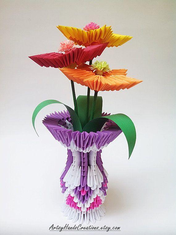 Модульное оригами: ваза для начинающих рукодельниц