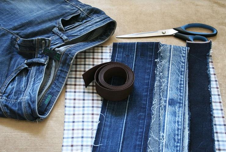 Игрушка поделка изделие новый год ассамбляж шитьё джинсовый новый год картон пуговицы сутаж тесьма шнур ткань