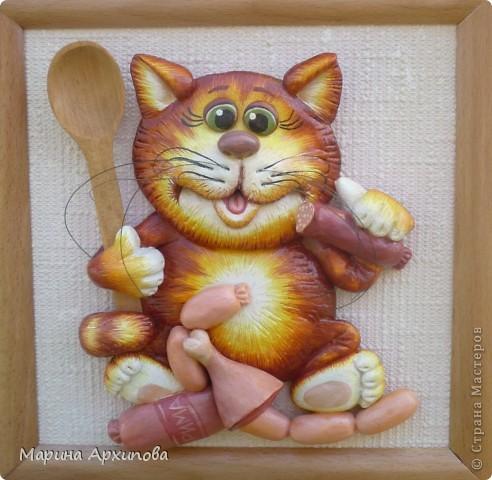 Кошка из соленого теста