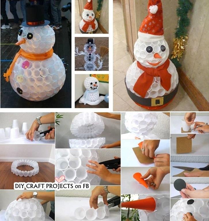 Как сделать снеговика своими руками: 5 пошаговых мастер-классов