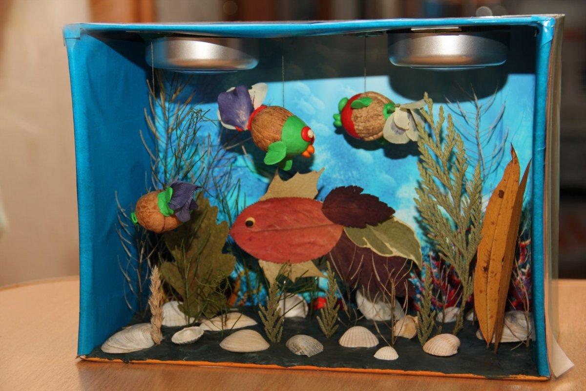 Игрушечный аквариум. идея поделки из картона | babydaytime.ru