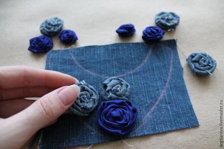 Цветы из джинсовой ткани своими руками: пошаговый мастер класс с фотографиями и видео