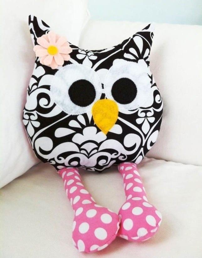 Декоративные подушки совы своими руками