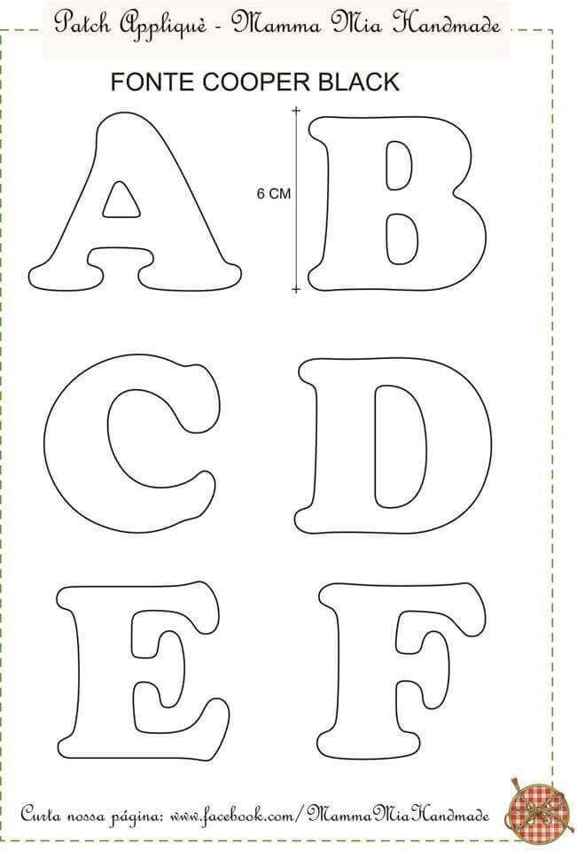 Алфавит из фетра: выкройки, схемы и шаблоны