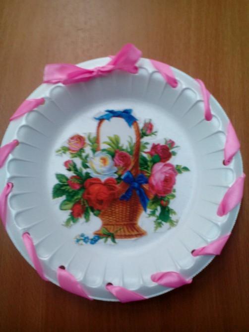 Декупаж тарелки своими руками - мастер-класс с фото