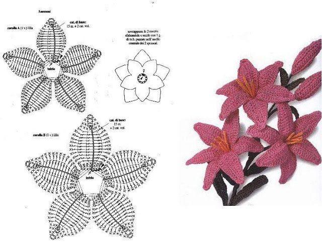 Платье крючком лилии - вязание - страна мам