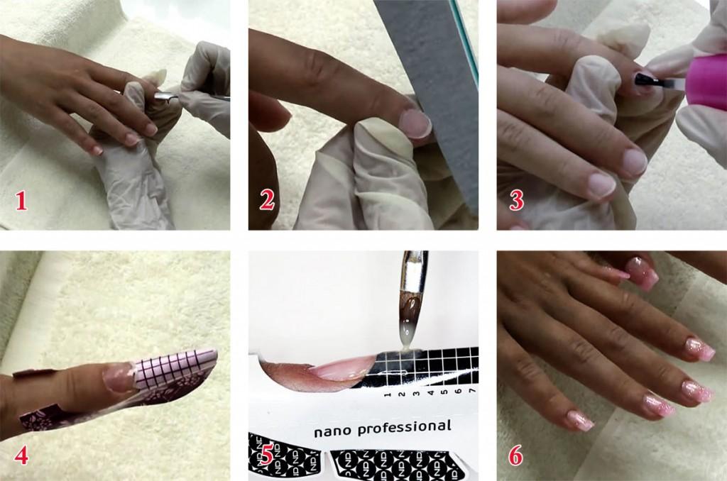 Наращивание ногтей акрилом - фото и видео с инструкциями для начинающих