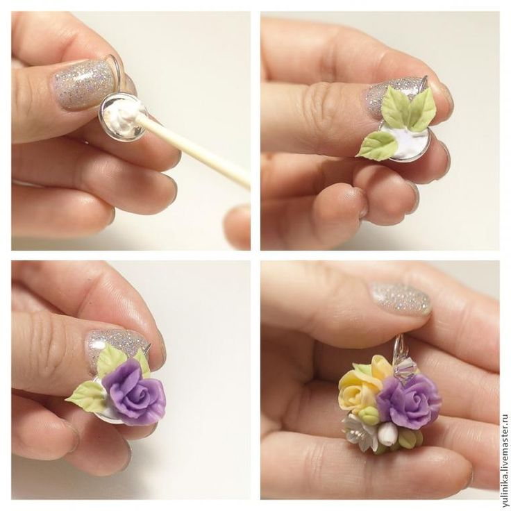 Самодельные цветы из полимерной глины - особенности работы с материалом, мастер-классы, фото примеры
