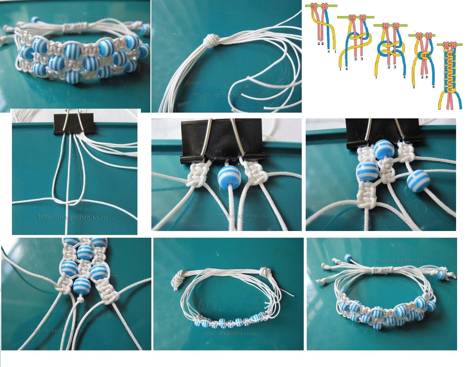Макраме браслеты: схемы плетения и видео, с ниток как сплести своими руками, для начинающих с бусинами стиль
