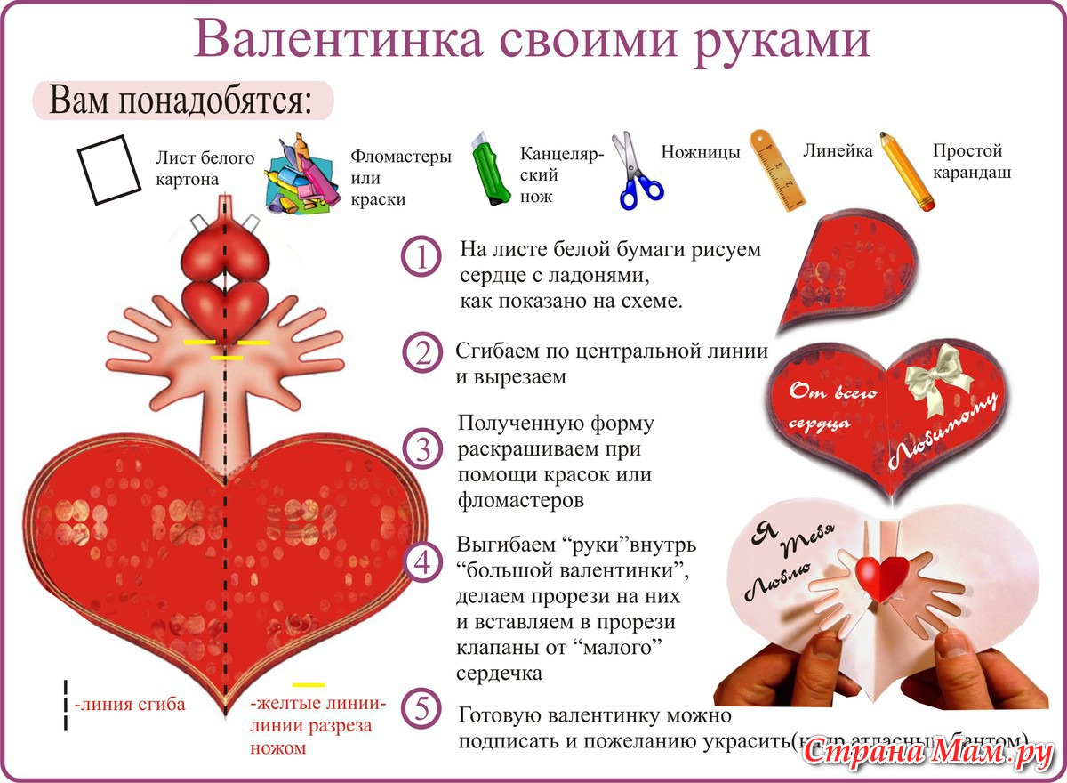 Подарки на день святого валентина своими руками: 14 лучших мастер-классов