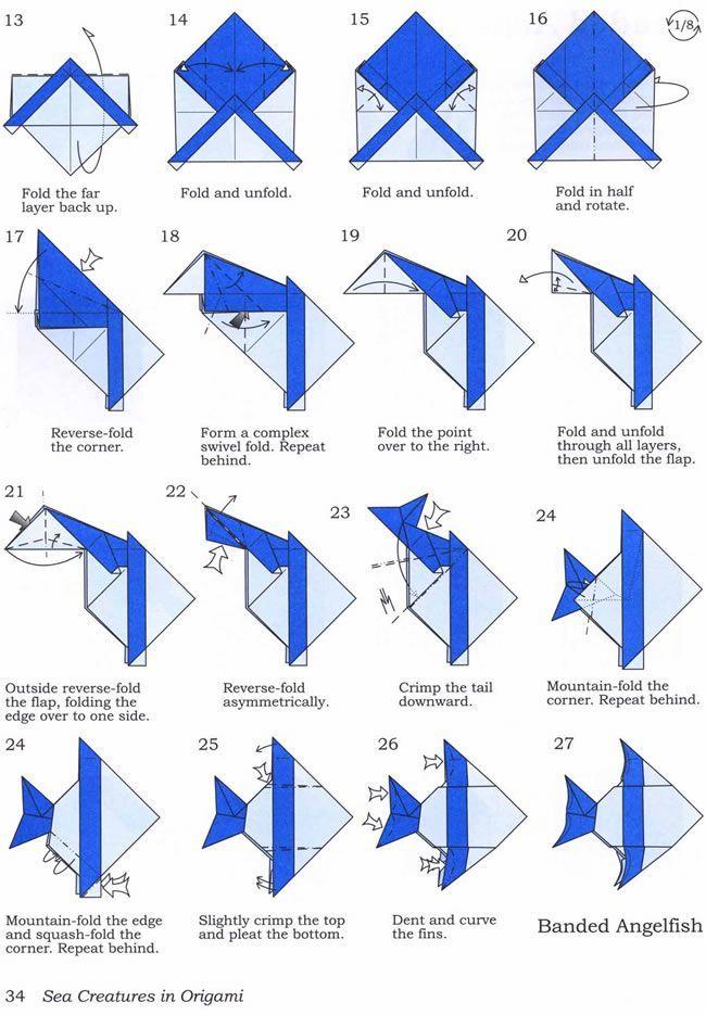 Поделки из бумаги: рыбки — пошаговая инструкция