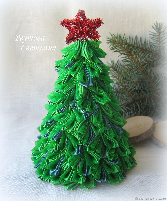 ᐉ новогодняя елочка из ленты с бусинами. ёлка из атласных лент и бусинок своими руками ✅ igrad.su