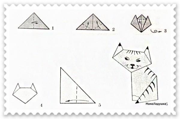 Котенок из бумаги