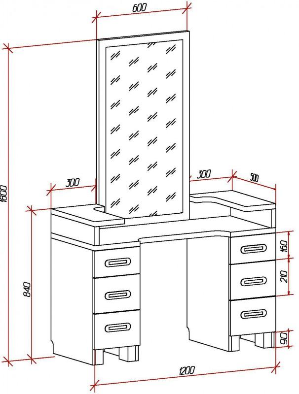 12 необычных идей обустройства и оформления туалетного столика