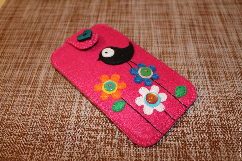 Шьём чехол для телефона из фетра: мастер-класс по пошиву стильного чехла